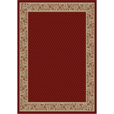Jewel Harmony Red Area Rug Rug Size: 710 x 910
