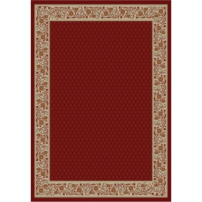 Jewel Harmony Red Area Rug Rug Size: 53 x 77