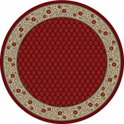 Jewel Harmony Red Area Rug Rug Size: Round 53
