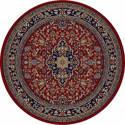 Jewel Heriz Red Area Rug Rug Size: Round 53