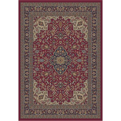 Jewel Heriz Red Area Rug Rug Size: Rectangle 93 x 126