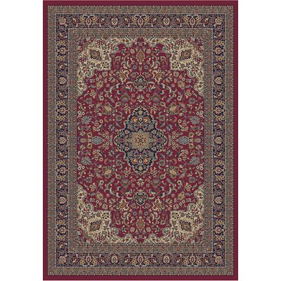 Jewel Heriz Red Area Rug Rug Size: 53 x 77