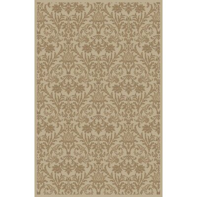 Jewel Damask Ivory Area Rug Rug Size: 67 x 93