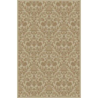 Jewel Damask Ivory Area Rug Rug Size: 710 x 910