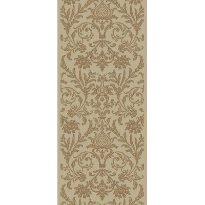 Jewel Damask Ivory Area Rug Rug Size: Runner 23 x 77
