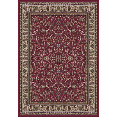 Jewel Kashan Red Area Rug Rug Size: Rectangle 93 x 126