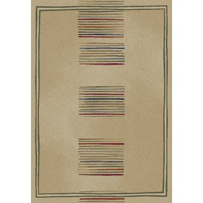 Jewel Ivory Stripes Area Rug Rug Size: 5'3