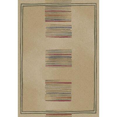 Jewel Ivory Stripes Area Rug Rug Size: 53 x 77