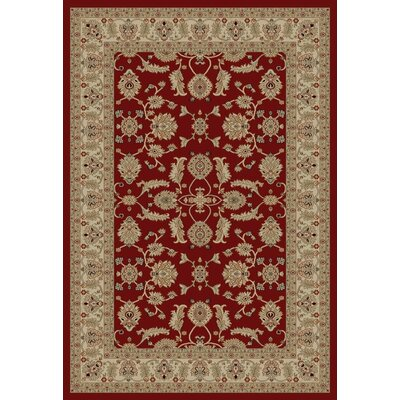 Jewel Antep Red Area Rug Rug Size: Rectangle 93 x 126