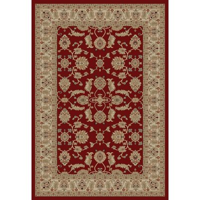 Jewel Antep Red Area Rug Rug Size: 53 x 77