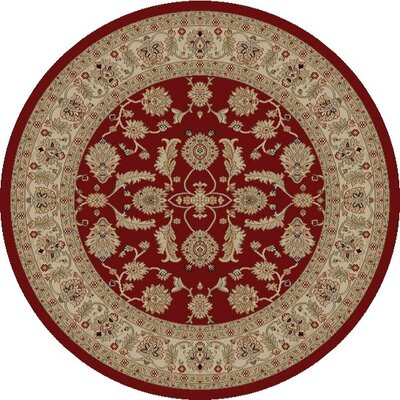 Jewel Antep Red Area Rug Rug Size: Round 53