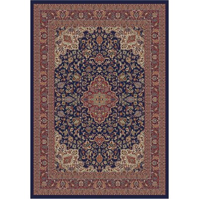 Jewel Heriz Navy Area Rug Rug Size: Rectangle 67 x 93