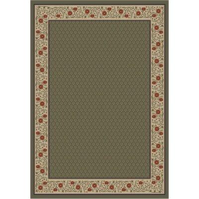 Jewel Harmony Green Area Rug Rug Size: 710 x 910