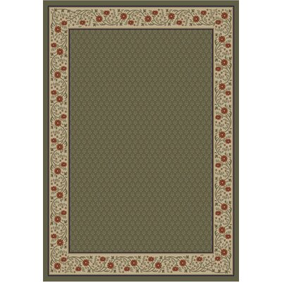 Jewel Harmony Green Area Rug Rug Size: 67 x 93