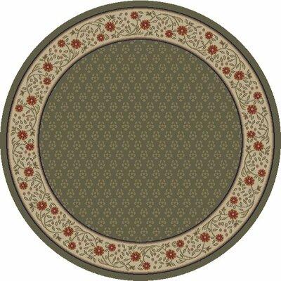 Jewel Harmony Green Area Rug Rug Size: Round 53