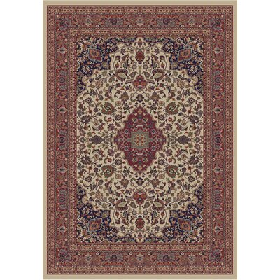 Jewel Heriz Ivory Area Rug Rug Size: Rectangle 67 x 93
