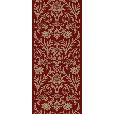 Jewel Damask Red Area Rug Rug Size: Runner 23 x 77