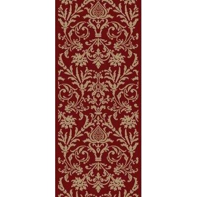 Jewel Damask Red Area Rug Rug Size: Runner 23 x 77
