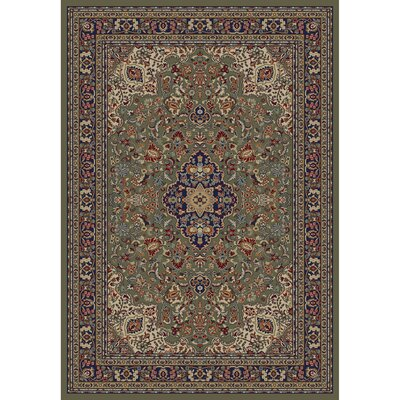 Jewel Heriz Green Area Rug Rug Size: 53 x 77