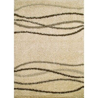 Shaggy Waves Natural Area Rug Rug Size: Rectangle 33 x 47
