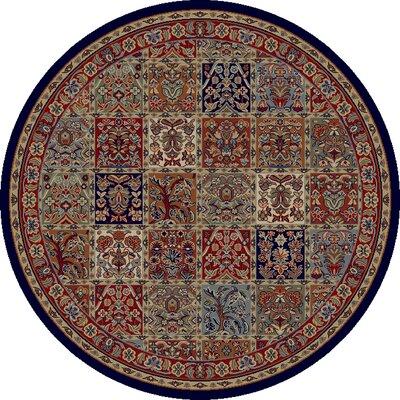 Jewel Panel Area Rug Rug Size: Round 53
