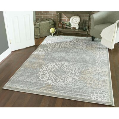 Ackermanville Gray Area Rug Rug Size: Rectangle 33 x 411