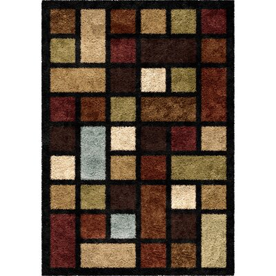 Perth Brown Area Rug Rug Size: 53 x 76
