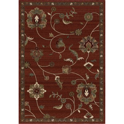 Tremont Red Area Rug Rug Size: 710 x 1010