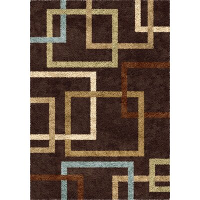 Yvonne Brown Area Rug Rug Size: 53 x 76