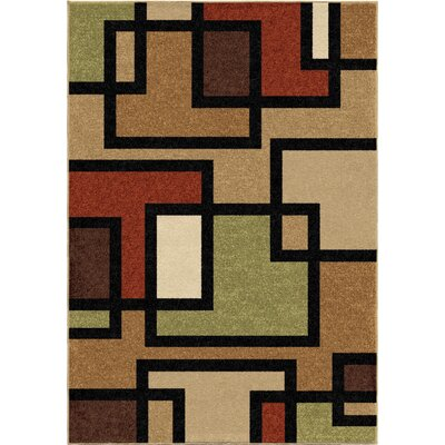 Thorne Brown Indoor/Outdoor Area Rug Rug Size: Rectangle 52 x 76