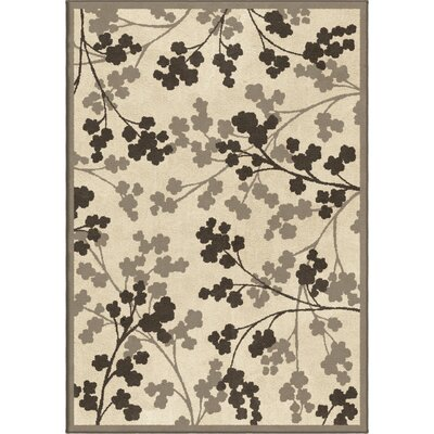 Alfred Ivory/Grey Area Rug Rug Size: 710 x 1010