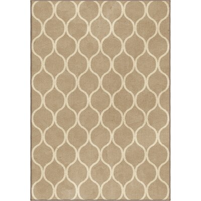 Marietta Beige Area Rug Rug Size: Rectangle 710 x 1010