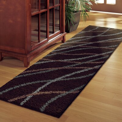 Denning Brown Area Rug Rug Size: Runner 111 x 75