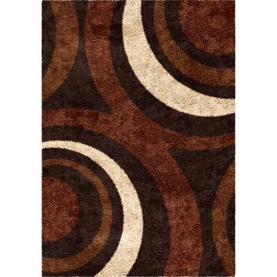 Marlborough Brown Area Rug Rug Size: 710 x 1010
