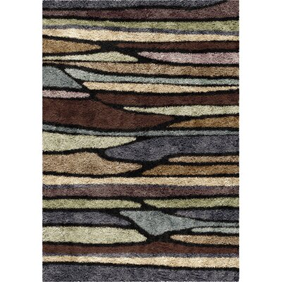 Xavier Brown Area Rug Rug Size: Rectangle 53 x 76