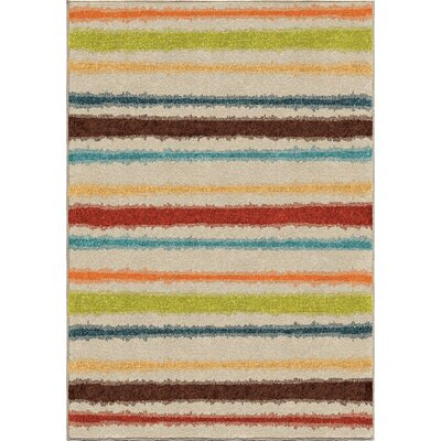 Maureen Cream Area Rug Rug Size: Rectangle 52 x 76
