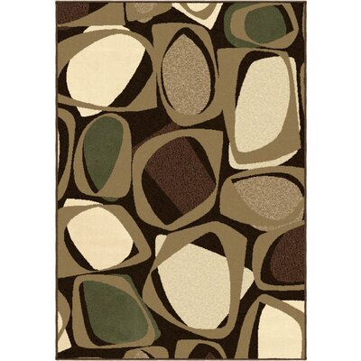 Hester Brown Area Rug Rug Size: 53 x 76