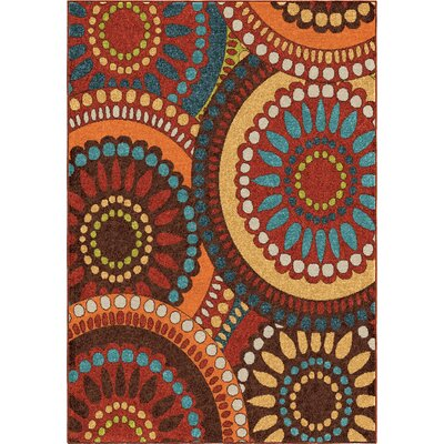 Fremont Red/Brown Area Rug Rug Size: 52 x 76