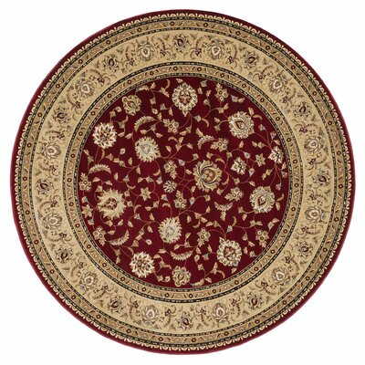 Wentworth Red/Beige Area Rug Rug Size: 53 x 77
