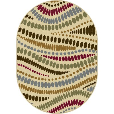 Colesville Beige Area Rug Rug Size: Oval 53 x 73