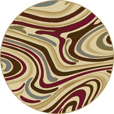 Willsbridge Beige Area Rug Rug Size: Round 53