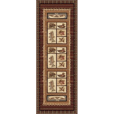 Stanley Brown Area Rug Rug Size: Runner 3 x 8