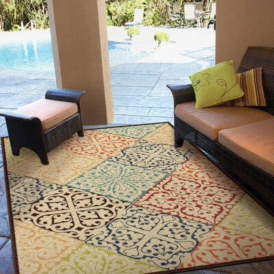 Trawalla Beige Indoor/Outdoor Area Rug Rug Size: Rectangle 78 x 1010