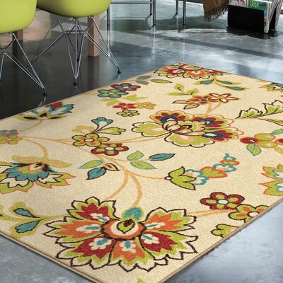 Oscar Beige Indoor/Outdoor Area Rug Rug Size: Rectangle 78 x 1010