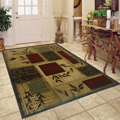 Abell Beige/Wine Red Area Rug Rug Size: 32 x 57