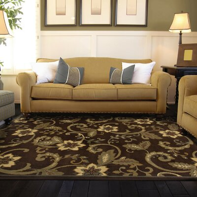 Garmon Brown/Ivory Area Rug Rug Size: 32 x 57