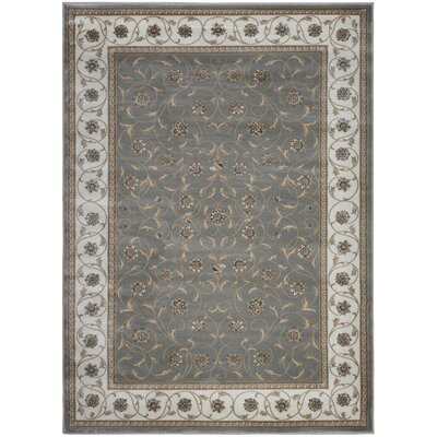 Gray Area Rug Rug Size: Rectangle 53 x 73