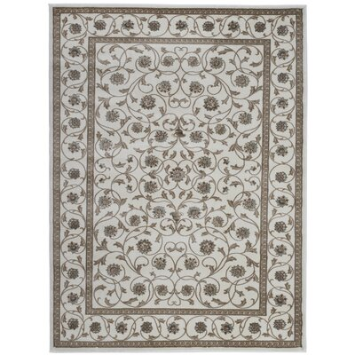 Bone Area Rug Rug Size: Rectangle 53 x 73