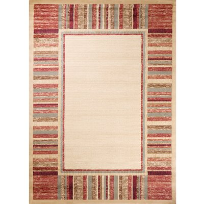 Ankara Dream Garden Ivory Traditional Rug Rug Size: 53 x 73
