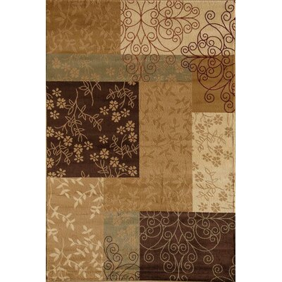 Allston Brown/Tan Area Rug Rug Size: Runner 23 x 71